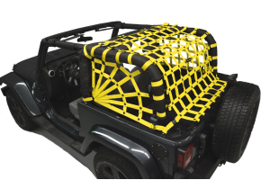 Dirty Dog 4x4 Spider Netting Rear Yellow (Part Number: )