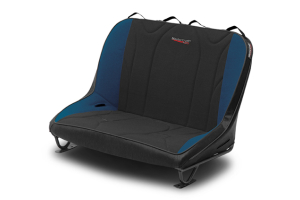 MasterCraft Rubicon Rear Bench Seat w/o Headrests Black / Blue (Part Number: )