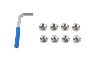 Kentrol OEM Anti-Theft Door Nuts - Polished Silver  - JK 4Dr