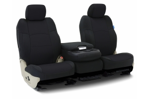 CoverKing Neoprene Front Seat Cover - Solid Black, Side Airbag Compatible - JL 2dr w/Adj. Height Seat