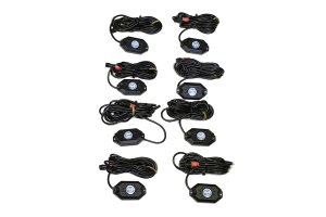 Quake LED 8-Piece LED RGB Rock Lights, Bluetooth Controller Not Included - Quad Lock Compatible