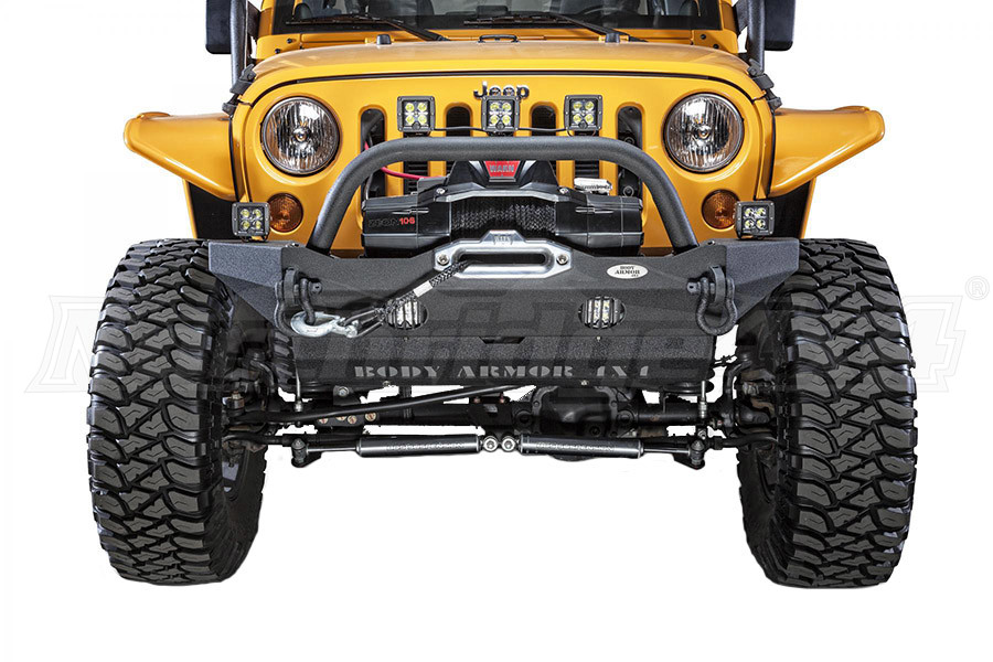 Body Armor Mid-Stubby Front Winch Bumper (Part Number:JK-19532)