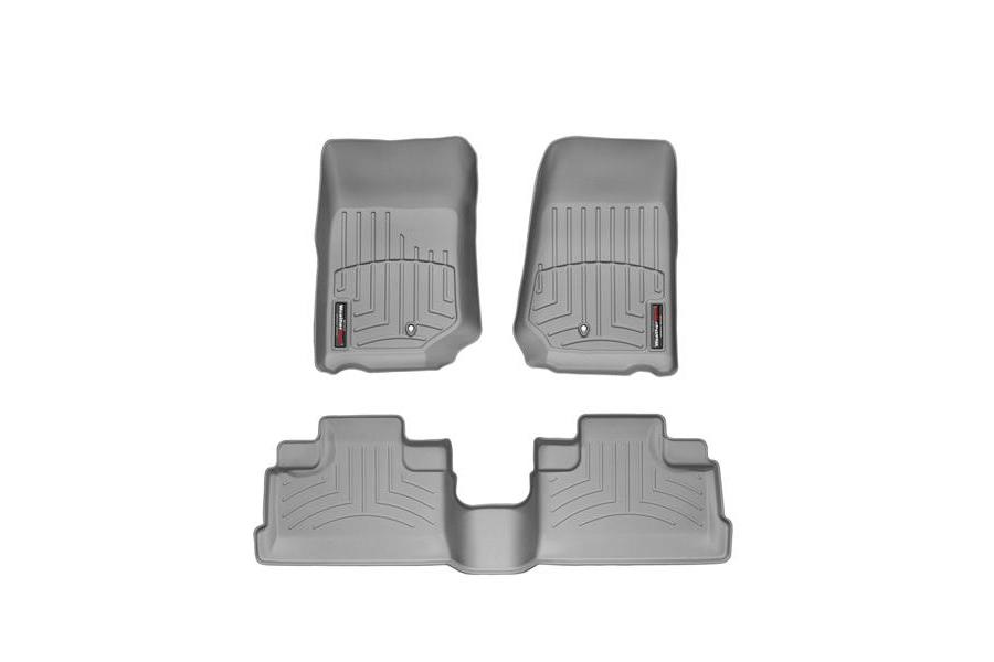 WeatherTech Front and Rear Floor Liner Grey Package - JK 2007-13 (Part Number:46105-1-2)