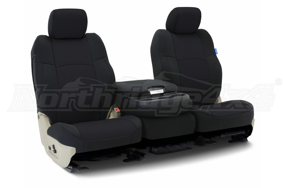 CoverKing Neoprene Front Seat Cover - Solid Black, Side Airbag Compatible - JL 4dr w/o Adj. Height Seat