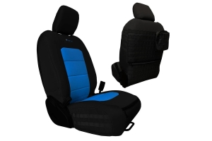 Bartact Tactical Series Front Seat Covers - Black/Blue - JT