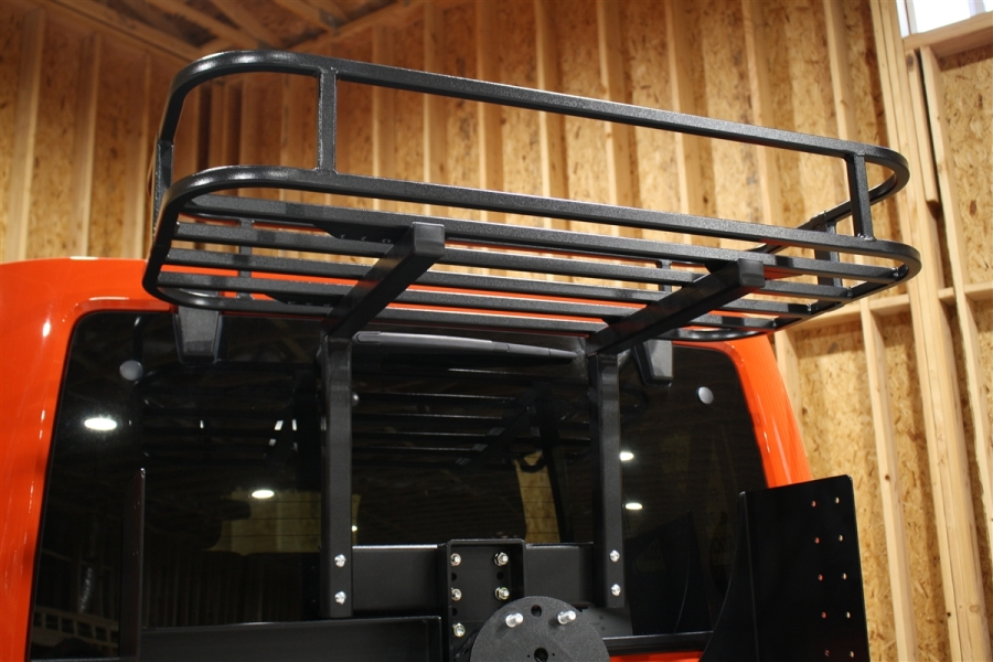 Rock Hard 4x4 Freedom Series Cargo Basket for Body Mount Tire Carrier - JK