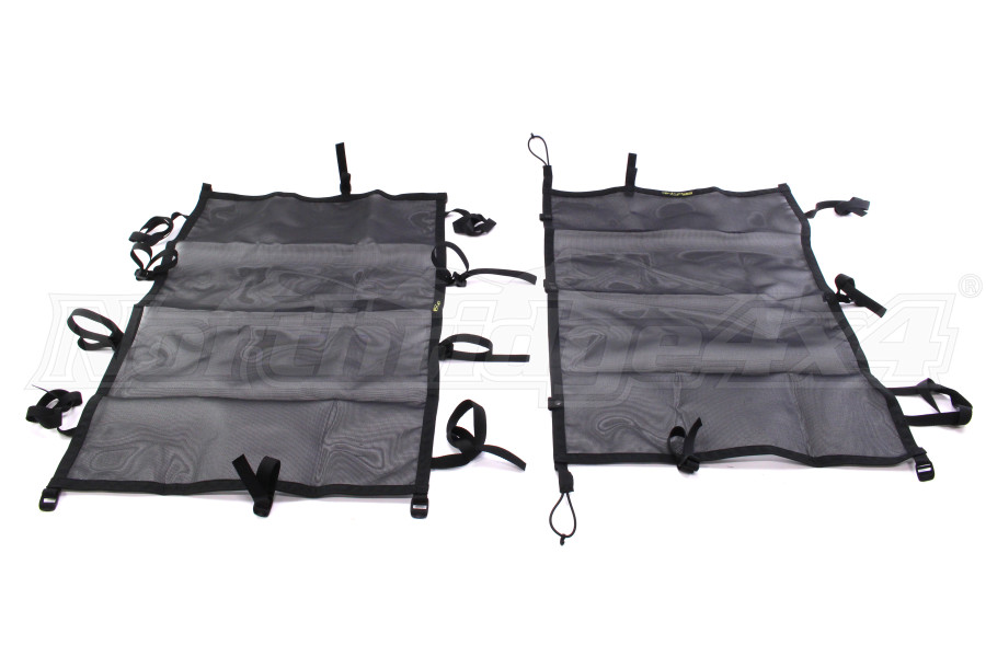 Dirty Dog 4x4 Sun Screen Front and Back Seats Black (Part Number:DD-S-JKF4-07-BLK)