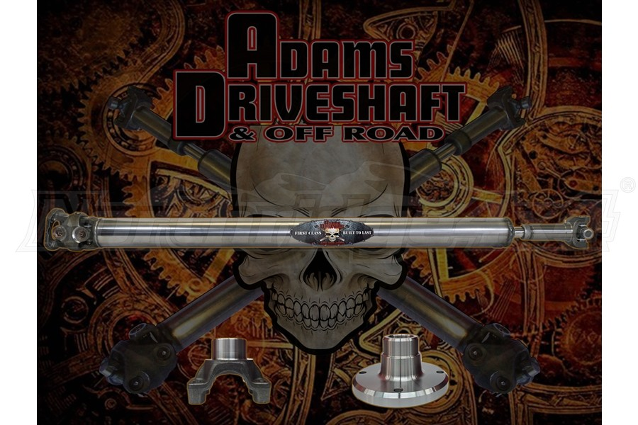 Adams Driveshaft Extreme Duty Series 1-Piece 1350 Solid Rear CV Driveshaft  - JT Sport Only