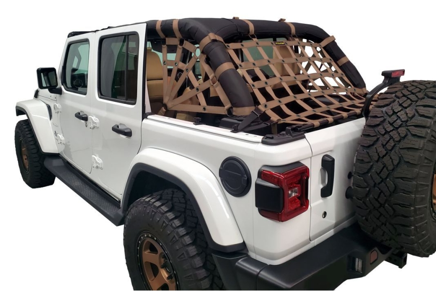 Dirty Dog 4x4 Netting Kit Spider Sides 3pc Sand - JL 4dr