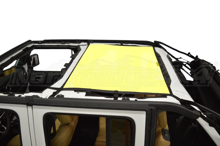 Dirty Dog 4x4 Sun Screen Rear - Yellow (Part Number:JL4S18R1YL)