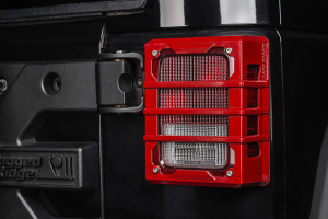 Rugged Ridge Elite Tail Light Guards, Red (Part Number: )