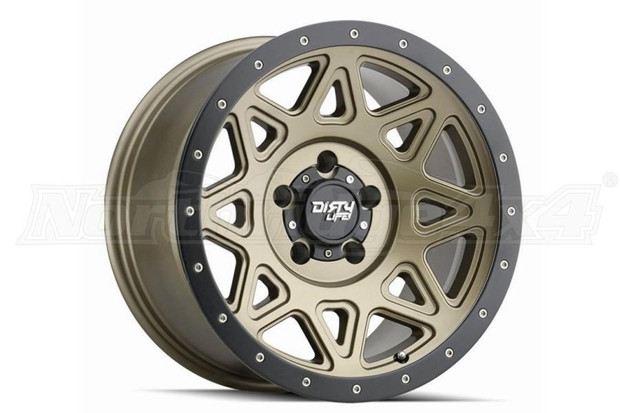 Dirty Life 9305 Theory Series Wheel, Matte Gold w/Matte Black Lip 18X9 5x5  - JT/JL/JK