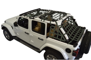 Dirty Dog 4x4 5pc Cargo Side Netting Kit, Olive Drab Green - JL 4Dr