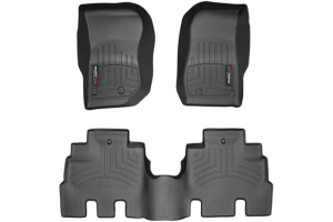 WeatherTech Front and Rear Floor Liner Black Package - JK 4dr 2014+