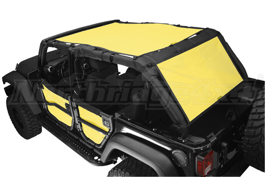 Dirty Dog 4x4 Sun Screen 2 Piece Front Back and Rear Yellow (Part Number:J4SS07SCYL)