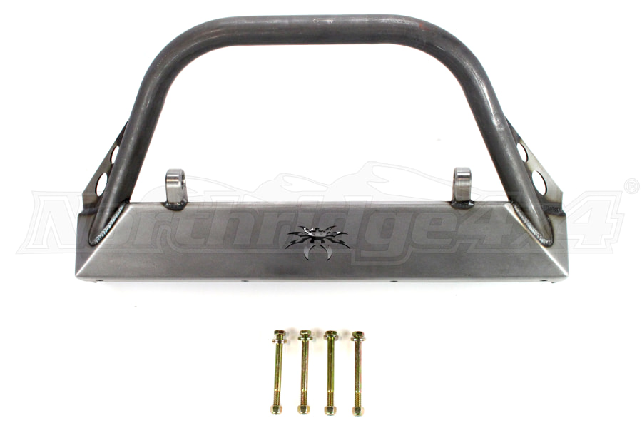 Poison Spyder BFH Front Bumper w/Brawler Bar and Shackle Tabs Bare ( Part Number: 17-16-020-DB)