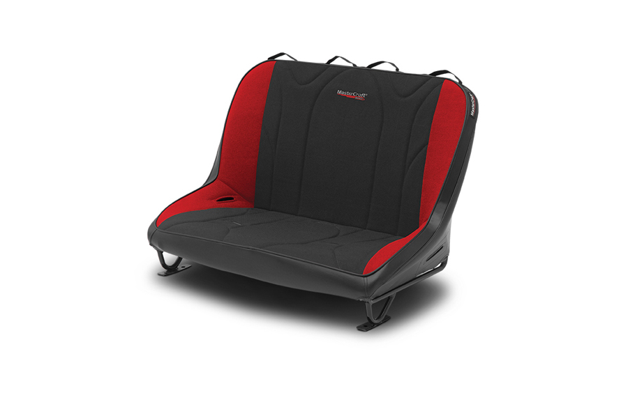 MasterCraft Rubicon Rear Bench Seat w/o Headrests Black / Red (Part Number:310101)