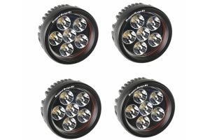Rugged Ridge Fast Track Kit - Includes Lightbar, 4 Round Lights w/Mirrors - JK