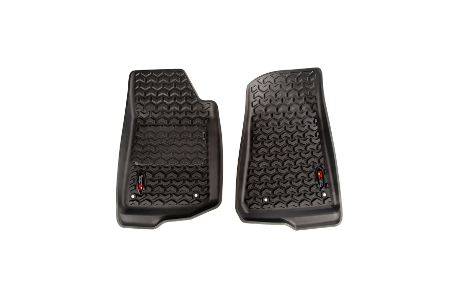Rugged Ridge Front Floor Liner Kit, Black  (Part Number:12920.36)