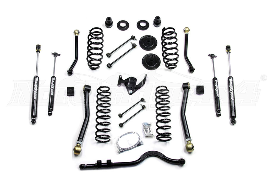jeep jk 4dr teraflex 3in lift kit w 4 flexarms trackbar