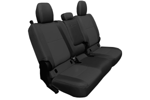 Bartact Tactical Series Rear Bench Seat Cover w/ Fold Down Arm Rest - Black/Black - JT