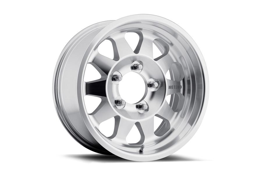 Method Race Wheel Series 101 Non-Beadlock Wheel Black w/Machined Lip 17x8.5, Blank Bolt Pattern (Part Number:MR10178500306)