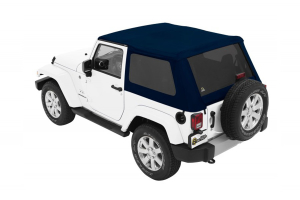 Bestop Trektop NX Plus Soft Top with Tinted Side & Rear Windows - Blue Twill - JK 2DR