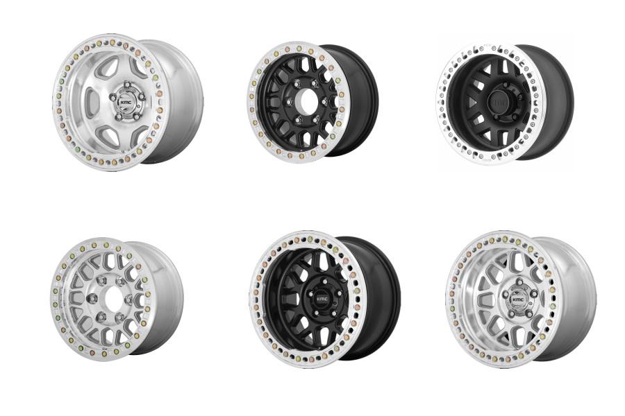 KMC Beadlock Wheels Package - JT/JL/JK