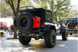LOD Signature Series Armor Lite Gen 4 Shorty Rear Bumper w/Tire Carrier and Round Light Cut Outs ( Part Number: STC1002)