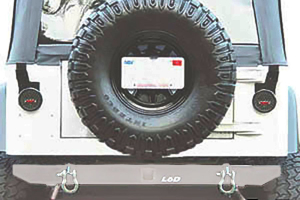 LOD Xtreme Duty Rear Bumper Bare Steel (Part Number: )