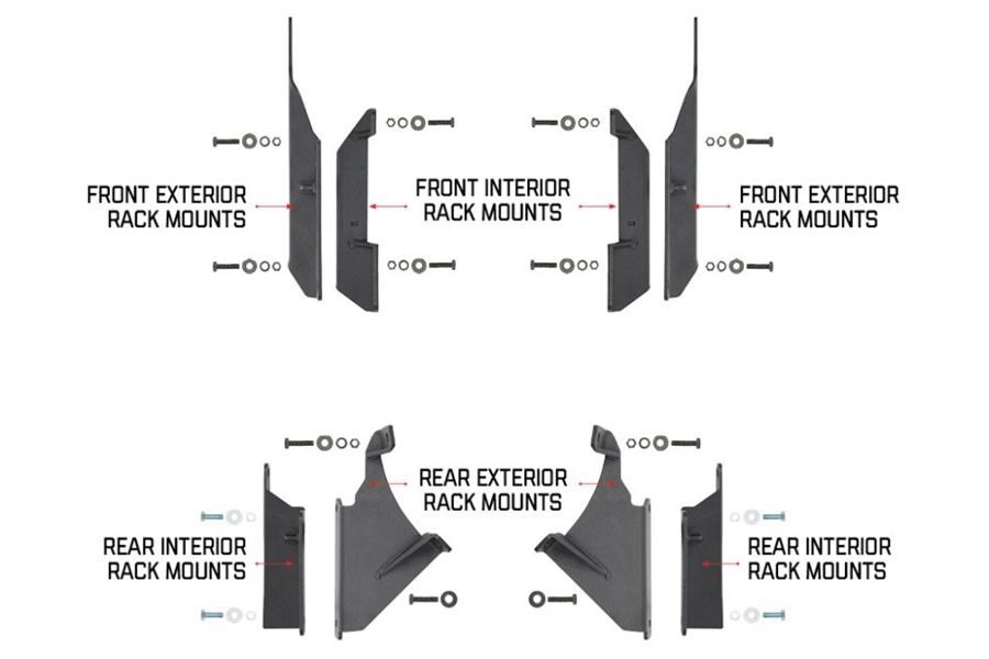 Go Rhino SRM Mounting Bracket Kit  - JK 4Dr
