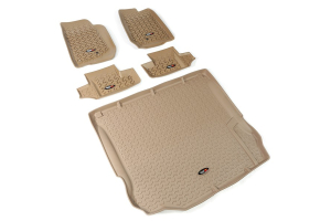 Rugged Ridge Floor Liner Kit, Tan - JK 2dr 2011+