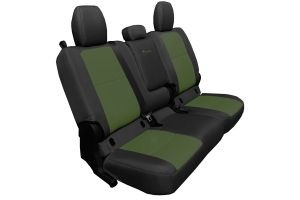 Bartact Tactical Series Rear Bench Seat Cover w/ Fold Down Arm Rest - Black/Olive - JT