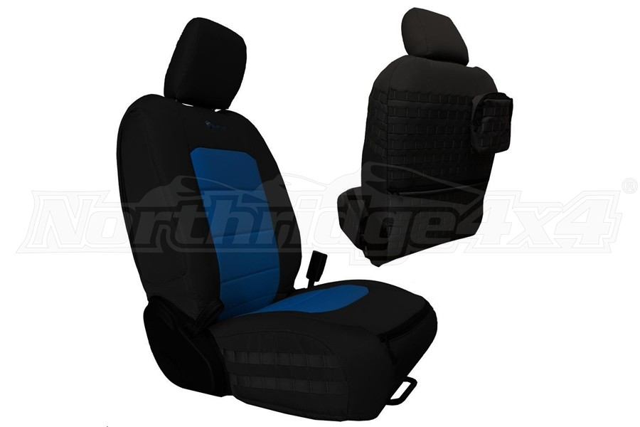 Bartact Tactical Front Seat Covers Black/Blue - JL 4dr