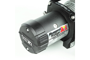 Rugged Ridge Winch, 12500 LBS, Cable, Waterproof (Part Number: )