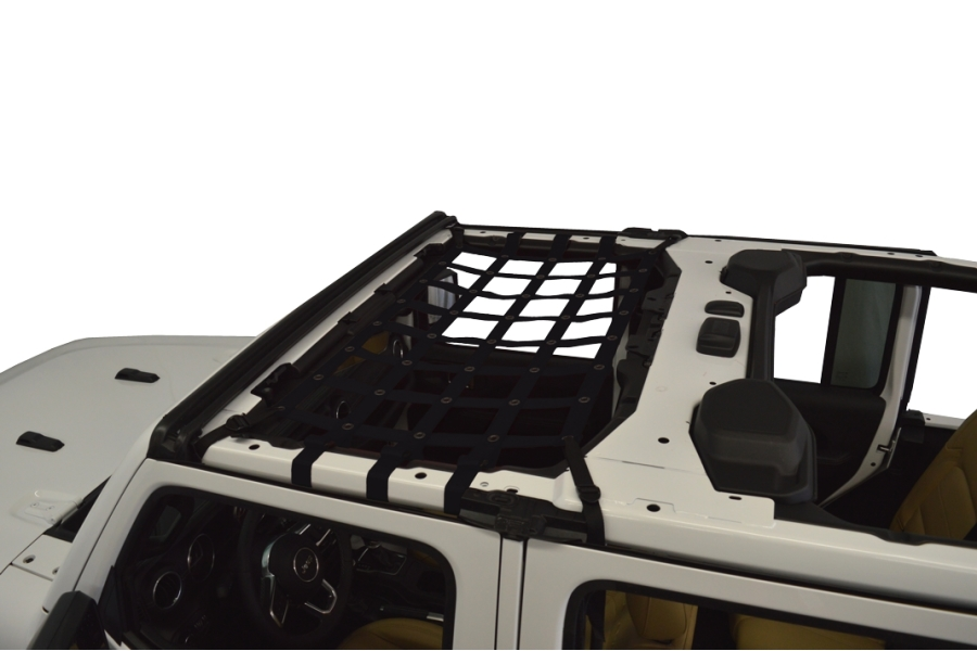 Dirty Dog 4x4 Front Seat Netting, Black - JL 4Dr
