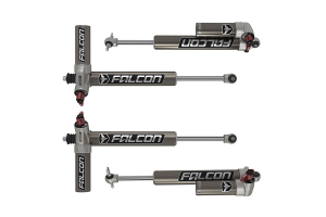 Teraflex Falcon Series 3.3 Adjustable Piggyback Shocks Front & Rear Kit 3-4.5in Lift - JK 4DR