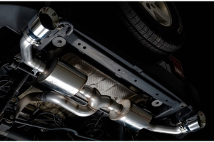 AWE Tread Edition Axle-Back Dual Exhaust - Chrome Tips - JK 2012+ 3.6L