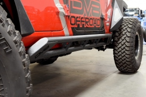 DV8 Offroad Rock Slider with Plated End Caps - JL 4dr
