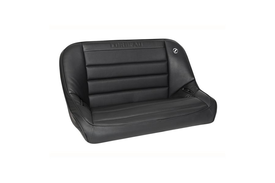 Corbeau Baja Bench 40in Black Vinyl (Part Number:64010)