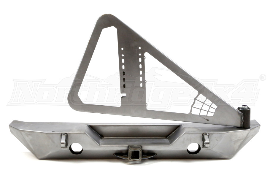Poison Spyder Rock Brawler II Rear Bumper w/ Tire Carrier Bare - JK