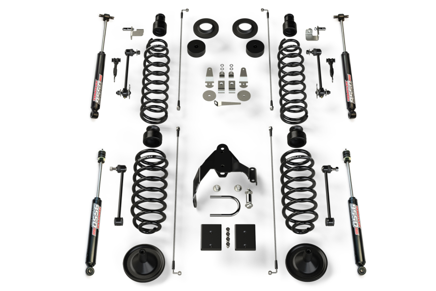 Teraflex 4in Base Lift Kit with 9550 Shocks - JK 4Dr