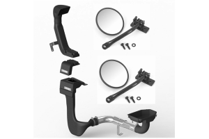 Rugged Ridge XHD Low/High Mount Snorkel System w/Mirror Relocation Kit Package - JK