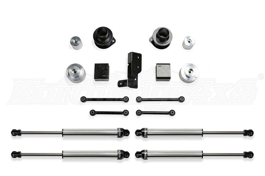 Fabtech 3in Spacer System w/ Dirt Logic 2.25 Shocks - JL 4DR