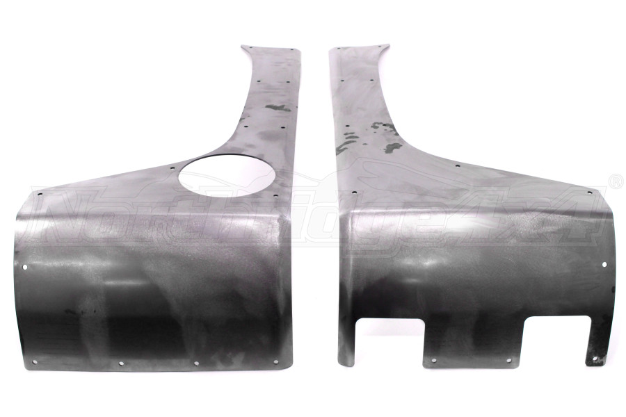 Poison Spyder Customs Crusher Corners w/No Taillight Holes Bare (Part Number:18-05-024)