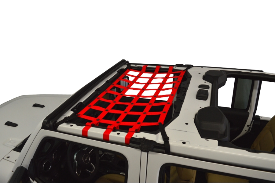 Dirty Dog 4x4 Front Seat Netting, Red - JL 4Dr