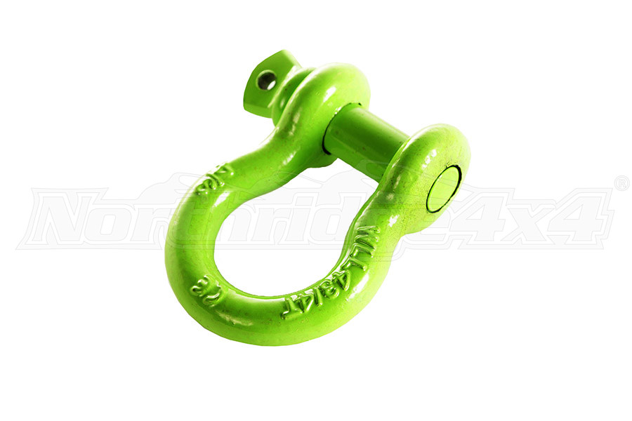 Rugged Ridge D-Shackle, 3/4-Inch, 9500 Pound, Green (Part Number:11235.21)
