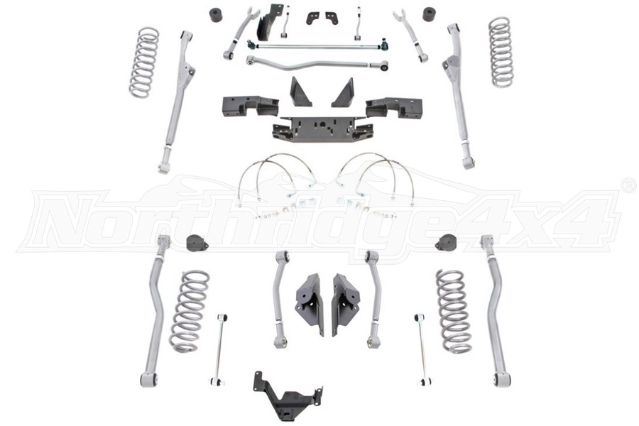 Rubicon Express 4.5in Extreme Duty Front Radius Rear 4-Link Long Arm Lift KIT  - JK 4Dr