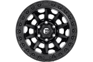 MHT Fuel D694 Covert Series Wheel, 17x9 5x5 - Matte Black - JT/JL/JK