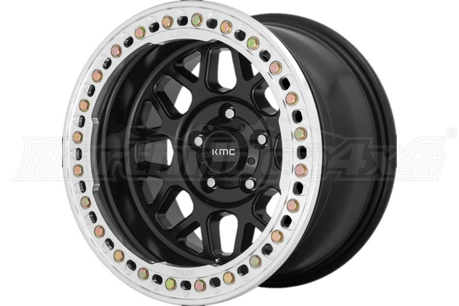 KMC Wheels KM235 Grenade Crawl Series Beadlock Wheel, 17x9 5x5 - Satin Black - JT/JL/JK